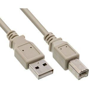 Roline USB2.0 kabel TIP A-B M/M, 3.0m, bež - PROMO
