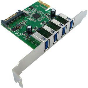 Roline VALUE PCIe kontroler 4×USB3.0 port