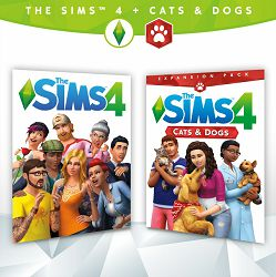 The Sims 4 Plus Cats & Dogs bundle (Sims 4 PC + Cats & Dogs Exp.) PC