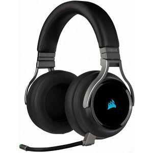 Slušalice Corsair Virtuoso RGB, bežične, gaming, 7.1, mikrofon, over-ear, RGB, carbon, PC, PlayStation 4, Xbox One, Nintendo Switch