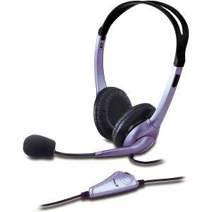 Slušalice Genius HS-04S, žičane, mikrofon, on-ear, ljubičaste