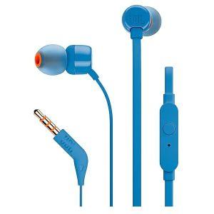 Slušalice JBL Tune 110, žičane, mikrofon, in-ear, plave