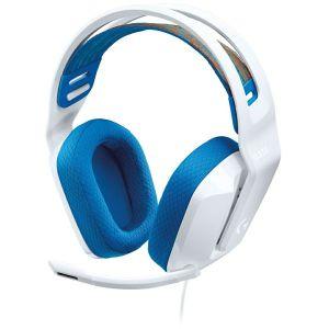 Slušalice Logitech G335, žičane, gaming, mikrofon, over-ear, RGB, bijele, PC, PlayStation 4/5, Xbox One, Series X/S, Nintendo Switch - MAXI PONUDA