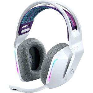Slušalice Logitech G733, gaming, mikrofon, bežične, bijele