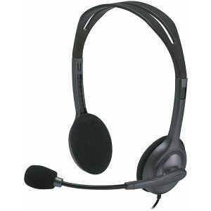 Slušalice Logitech H111 s mikrofonom, stereo, siva