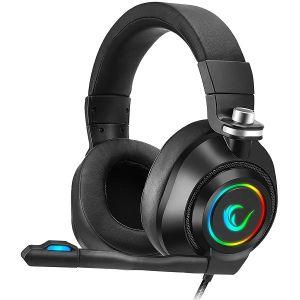 Slušalice RAMPAGE RM-K20 Amaze Black, gaming, mikrofon, 7.1, RGB, crne
