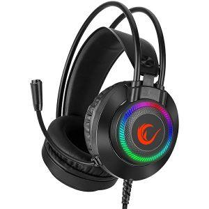 Slušalice RAMPAGE RM-K27 X-JAMMER, mikrofon, LED, PC/PS4/Xbox, crne - MAXI PONUDA