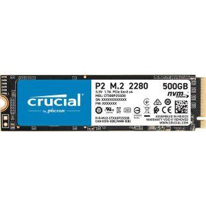 SSD CRUCIAL P2 500GB SSD, M.2 2280, PCIe Gen3 x4, Read/Write: 2300/940 MB/s, Random Read/Write IOPS: 95K/215K - PROMO