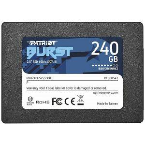 SSD Patriot Burst Elite R450/W320, 240GB, 7mm, 2.5