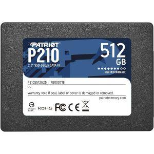 SSD Patriot P210 R520/W430, 512GB, 7mm, 2.5