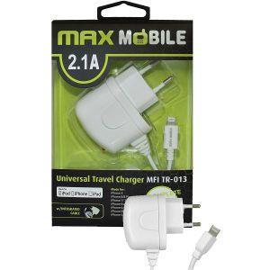 Strujni punjač Max Mobile TR-013, MFI, Apple Lightning, Bijeli