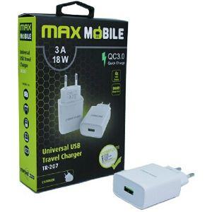 Strujni punjač Max Mobile TR207, Quick Charge 3.0, 18W, Bijeli