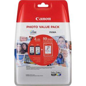 Tinta Canon PG-545XL + CL-546XL Photo Value Pack