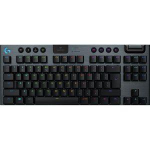 Tipkovnica Logitech G915 TKL, mehanička, tactile, crna