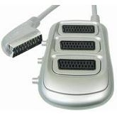 Transmedia 3 way Scart Splitter
