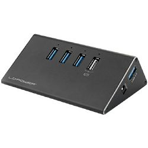 USB HUB LC-Power 4x USB 3.0 + strujni adapter