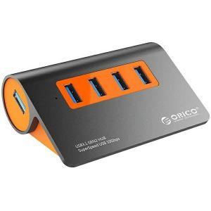 USB hub Orico 4-portni USB 3.1, dark gray+orange (ORICO M3H4-G2)