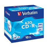 CD-R Verbatim 700MB 52× DataLife+ Crystal 10 pack JC