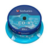CD-R Verbatim 700MB 52× DataLife 25 pack spindle EP