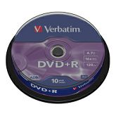 DVD+R Verbatim 4.7GB 16× Matt Silver 10 pack spindle