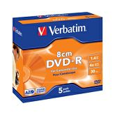 DVD-R Verbatim 1.4GB/8cm 4× Matt Silver Hardcoated 5 pack JC