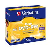 DVD+RW Verbatim 1.4GB/8cm 4× Matt Silver Hardcoated 5 pack JC