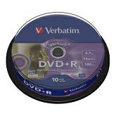 DVD+R Verbatim 4.7GB 16× LightScribe 10 pack spindle