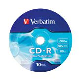 CD-R Verbatim 700MB 52× DataLife Wagon Wheel 10 pack EP