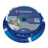 DVD Blu-Ray Verbatim BD-R SL 6× 25GB LTH WIDE PRINTABLE 10 pack spindle (Single Layer)