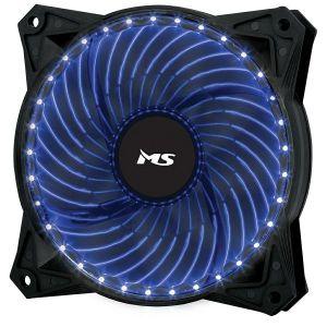 Ventilator MS Freeze L220, 120mm, plavo LED, crni