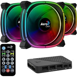 Ventilatori za kućište AeroCool Astro 12 Pro, ARGB, 120mm, HUB (3 komada)