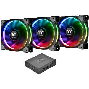 Ventilatori za kućište Thermaltake Riing Plus 12 RGB, 120mm, crni (3 komada)