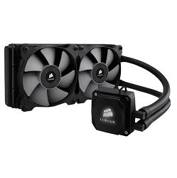 Vodeno hlađenje Corsair Hydro Series, H115i PRO, 280mm Radiator, Advanced RGB Lighting and Fan Control with Software, Dual 140mm ML Series PWM Fans, Liquid CPU Cooler