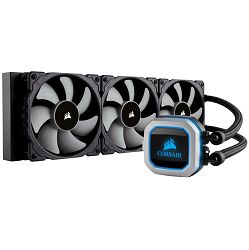 Vodeno hlađenje Corsair Hydro Series, H150i PRO, 360mm Radiator, Advanced RGB Lighting and Fan Control with Software, Liquid CPU Cooler, Triple 120mm ML Series PWM Fans