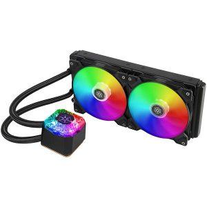 Vodeno hlađenje SilverStone IceGem 280 Premium, Dual Adjustable 140mm PWM, ARGB, Intel/AMD