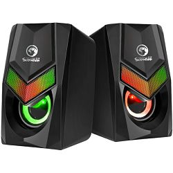 Zvučnici MARVO SCORPION SG-118, RGB, 2.0, 2x3W, crni - BEST BUY