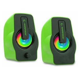 Zvučnici Rampage RMS-G7 Falsetto, LED, 2.0, 6W, zeleni - MAXI PONUDA