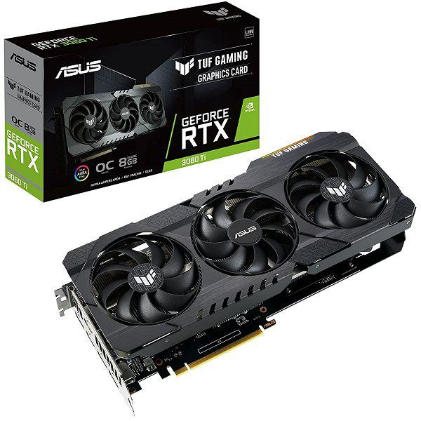 Grafička Asus GeForce RTX3060Ti TUF Gaming V2 OC, 8GB GDDR6, LHR