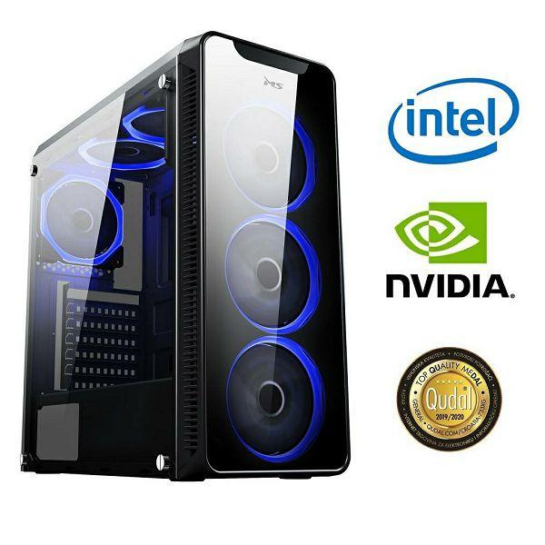 Računalo INSTAR Gamer Prime, Intel Core i5 10400F up to 4.3GHz, 16GB DDR4, 500GB NVMe SSD, NVIDIA GeForce GTX1650 4GB, no ODD, 5 god jamstvo